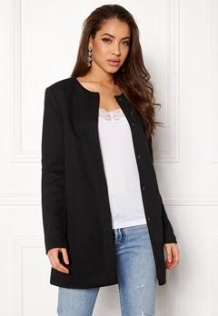 ONLY Sidney Light Coat Black Bubbleroom.dk