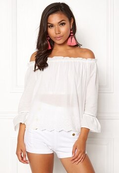 ONLY Skyla Off Shoulder Top Cloud Dance Bubbleroom.dk