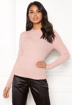 ONLY Sonia L/S Pullover Misty Rose Bubbleroom.dk