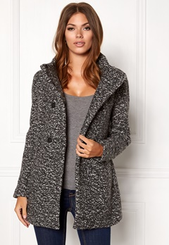 ONLY Sophia Noma Wool Coat Dark grey melange Bubbleroom.dk