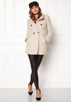 ONLY Sophia Noma Wool Coat simply taupe Bubbleroom.dk
