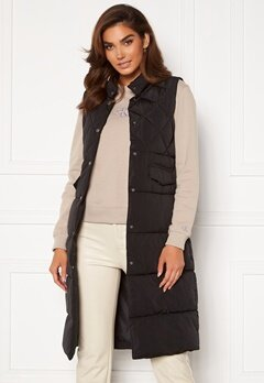 ONLY Stacy Quilted Waistcoat black<br>  Bubbleroom.dk