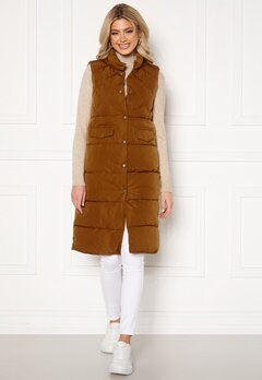 ONLY Stacy Quilted Waistcoat Toasted Coconut Bubbleroom.dk