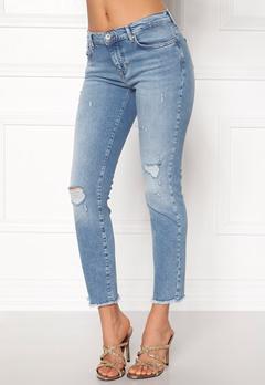 ONLY Sui Reg Ankle Jeans Light Blue Denim Bubbleroom.dk