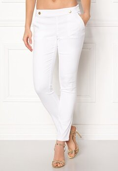 Jacqueline de Yong Tara Button Pant White Bubbleroom.dk