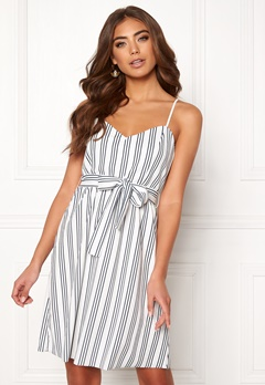 ONLY Tina S/L Dress Cloud Dancer/Stripes Bubbleroom.dk