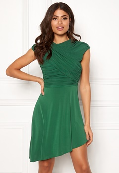ONLY True S/L Drappy Dress Verdant Green Bubbleroom.dk