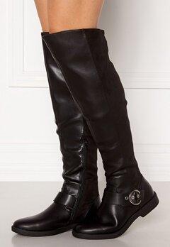 ONLY Tyra-5 PU Long Shaft Boot Black Bubbleroom.dk