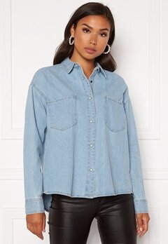 ONLY Unit Life Oversize Shirt Light Blue Denim Bubbleroom.dk