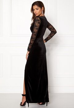 ONLY Valerie L/S Maxi Dress Black Bubbleroom.dk