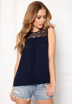 ONLY Venice s/l Lace Top Night Sky Bubbleroom.dk