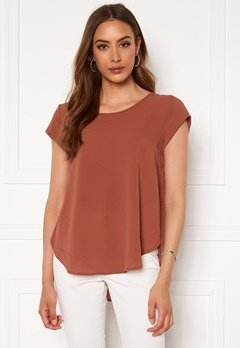 ONLY Vic S/S Solid Top Apple Butter Bubbleroom.dk