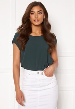 ONLY Vic S/S Solid Top Green Gables Bubbleroom.dk