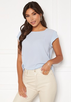 ONLY Vic S/S Solid Top Kentucky Blue Bubbleroom.dk