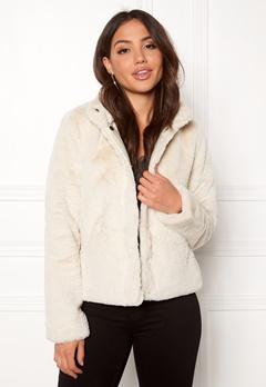 ONLY Vida Faux Fur Jacket Pumice Stone Bubbleroom.dk