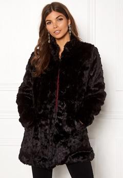ONLY Viva Fur Coat Black Bubbleroom.dk
