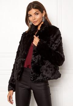 ONLY Viva Fur Jacket Black Bubbleroom.dk