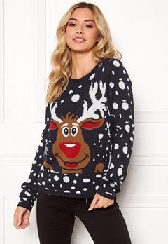 ONLY X-mas Bell Reindeer L/S Night Sky Bubbleroom.dk