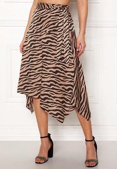 ONLY Zebra Skirt Tan Bubbleroom.dk