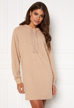 ONLY Zoe L/S Sweat Dress Beige Bubbleroom.dk