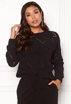 ONLY Yasmin L/S Pullover Black Bubbleroom.dk