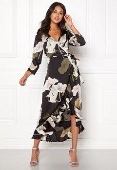 OBJECT Pantheon 3/4 Maxi Dress Black/Big Floral Bubbleroom.dk