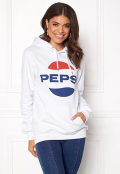 Pepsi Sweet Pepsi Logo Hoodie White Bubbleroom.dk