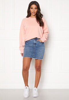 Pieces Aia Denim Skirt Light Blue Denim Bubbleroom.dk