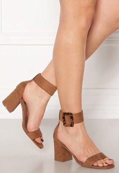 ONLY Amanda Ankle Strap Heeled Sandal Cognac Bubbleroom.dk