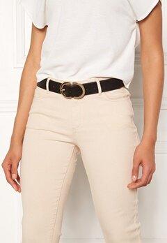 Pieces Ami Jeans Belt Black/Gold Metal Bubbleroom.dk