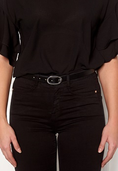 Pieces Ana Leather Jeans Belt Black Bubbleroom.dk