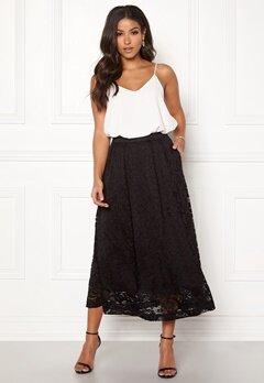 Pieces Beda Ankle Lace Skirt Black Bubbleroom.dk