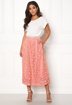 Pieces Beda Ankle Lace Skirt Rose Dawn Bubbleroom.dk