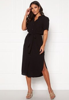 Pieces Cecilie SS Long Dress Black Bubbleroom.dk