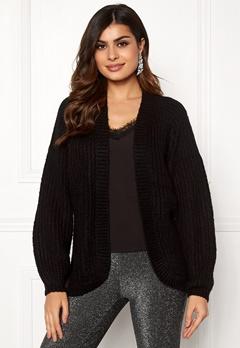 Pieces Clarissa LS Knit Cardigan Black Bubbleroom.dk