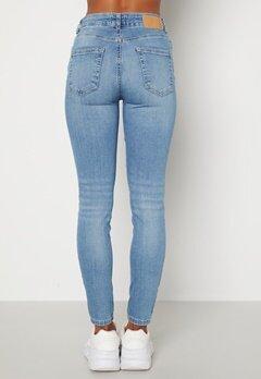 Pieces Delly MW Jeans Light Blue Denim Bubbleroom.dk