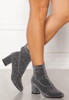 Pieces Donna Glitter Boot Silver Colour Bubbleroom.dk