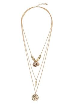 Pieces Elsa Combi Necklace Gold Bubbleroom.dk