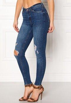 Pieces Five Delly Ankle Jeans Dark Blue Denim Bubbleroom.dk