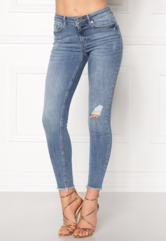 Pieces Five Delly Cropped Jeans Light Blue Denim Bubbleroom.dk