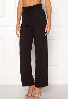 Pieces Francine HW Straight Pant Black Bubbleroom.dk