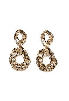 Pieces Frija Earrings Gold Colour Bubbleroom.dk