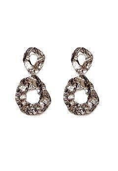 Pieces Frija Earrings Silver Colour Bubbleroom.dk