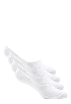 Pieces Gilly Footies 4 Pack Bright White Bubbleroom.dk