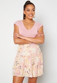 VERO MODA Hannah Foil Short Skirt Birch Bubbleroom.dk