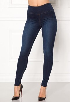 Pieces High Waist Betty Soft Dark Blue Denim Bubbleroom.dk