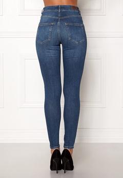 Pieces Highfive Delly B184 Jeans Medium Blue Denim Bubbleroom.dk