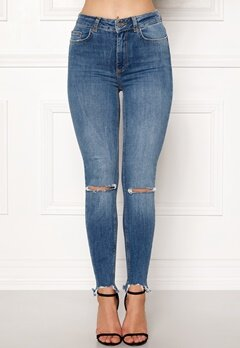 Pieces Highfive Delly Jeans Medium Blue Denim Bubbleroom.dk