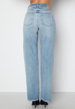 Pieces Holly HW Wide Jeans Medium Blue Denim bubbleroom.dk