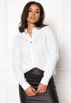 Pieces Irena LS Oxford Shirt Bright White Bubbleroom.dk